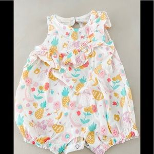 First Impressions Pineapple Romper